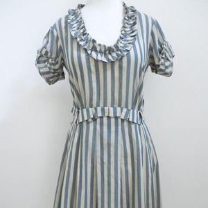 3.1 PHILLIP LIM striped cotton dress sz 2